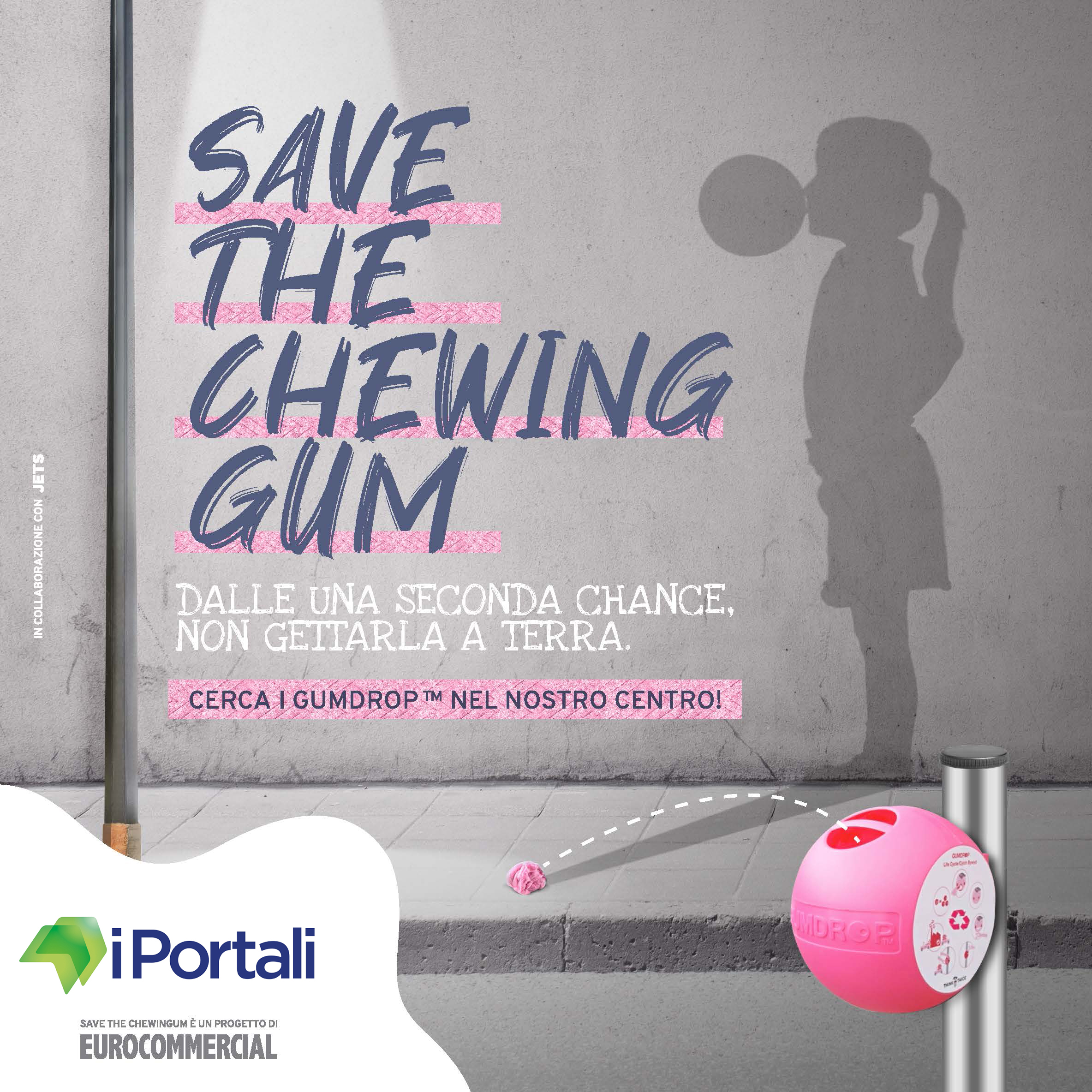 Save the chewing gum - Centro Commerciale I Portali Modena